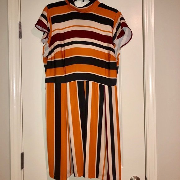 Eloquii Dresses & Skirts - Multi-colored opposing striped dress